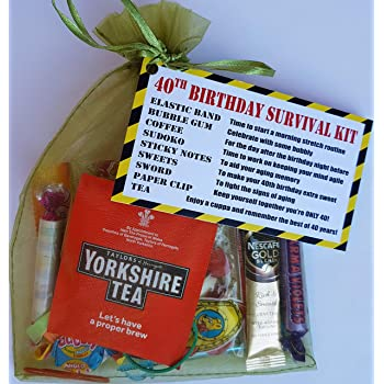 40th Birthday Survival KIT Gift Present More Than A Card Give Them Fun Cheeky That Will Make Smile Funny Idea For Him Her Men