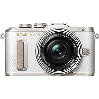 "Olympus PEN E-PL8 Kompakte Systemkamera (16 MP, elektr. Zoom, Full HD, 3"" Display, Wifi) + 14-42mm Pancake weiß/silber"