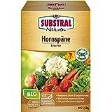 Substral Naturen Bio Hornspäne, Natürlich organischer Stickstoffdünger mit Sofort-und Langzeitwirkung, 1,5 kg