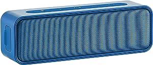 Amazon Basics Bluetooth Stereo Lautsprecher Mit Wasserabweisendem Design 9 W Blau Audio Hifi