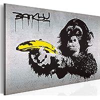 murando - Bilder Banksy Monkey with Banana Gun 120x80 cm Vlies Leinwandbild 1 TLG Kunstdruck modern Wandbilder XXL…