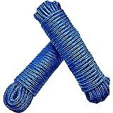 Touw 8 mm 40 m (2 x 20 m) - 2 stuks set - polypropyleen touw PP, vastmakerslijn, multifunctioneel touw, breien, tuintouw, out