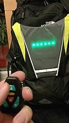 Feux de Direction T/él/écommande shenkey Gilet de Cyclisme /à LED Installation Facile pour t/émoin de s/écurit/é /&agr Rechargeable par USB Gilet r/éfl/échissant /à LED avec indicateur de Direction