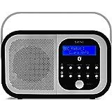 Smith-Style Retro H1 DAB+ FM DAB Digital Radio Bluetooth Portable Radio with Dual Alarm Clock & LCD Display – DAB Radio/FM Ra