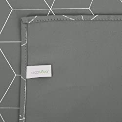 Deconovo Cortinas para Ventana de Sal n Dormitorio y Cocina Dise o de Rombo con Ojales 2 Paneles 117 x 229 cm Gris Claro