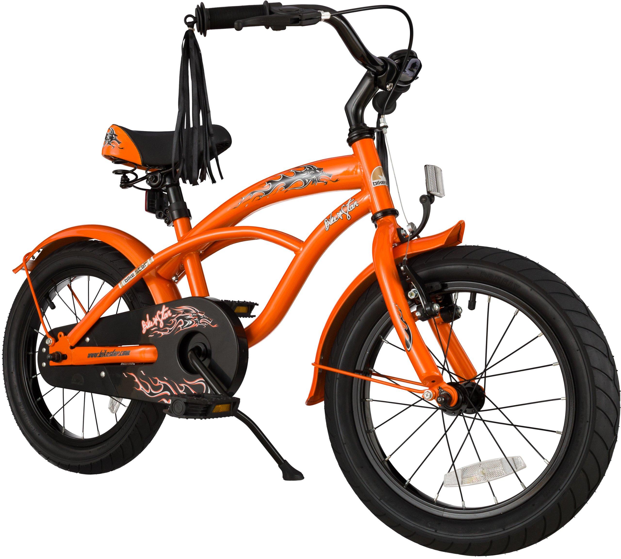 BIKESTAR® Premium Design Bicicletta per Bambini mitico! Giù 4 anno ? Edizioni 16ª Deluxe Cruiser ? S