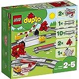 LEGO10882DuploTownVíasferroviarias,JuguetedeConstrucciónparaNiñosde+2años,AccesoriosparaTrenes