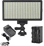 Osaka Bi-Color Dimmable LED Video Light OS-LED-308 Pocket LED Slim for All DSLR Video Cameras YouTube tiktok Photography Video Shooting with F750 Battery 8000 mAh & Ultra Fast Charger
