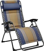 AmazonBasics Padded Zero Gravity Chair- Blue