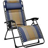AmazonBasics Padded Zero Gravity Chair- Blue
