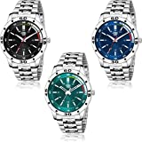 Swadesi Stuff Pack of 3 Multicolor Dial Analogue Watch for Men and Boys