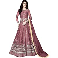 Fancy Lifestyle Women's Long Anarkali Gown Type Lahenga Choli (Semi-Stitched)
