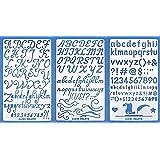 Aleks Melnyk #34 Pochoir à Dessin/Planches de Pochoirs avec de l'alphabet, Lettres et Chiffres pour Loisirs Créatifs/Stencils