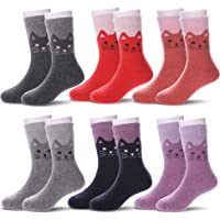 DOFUN 6 Pairs Boys Girls Toddlers Children's Winter Wool Boot Socks Warm Thermal Kids Socks