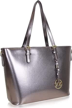 Vanessa & Melissa Damen Shopper Handtasche, praktische Allrounder Tasche, groß für Schule oder Alltag, mit extra Schulterriemen