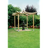 Cenador de madera para jardín, pagoda japonesa hexagonal ...