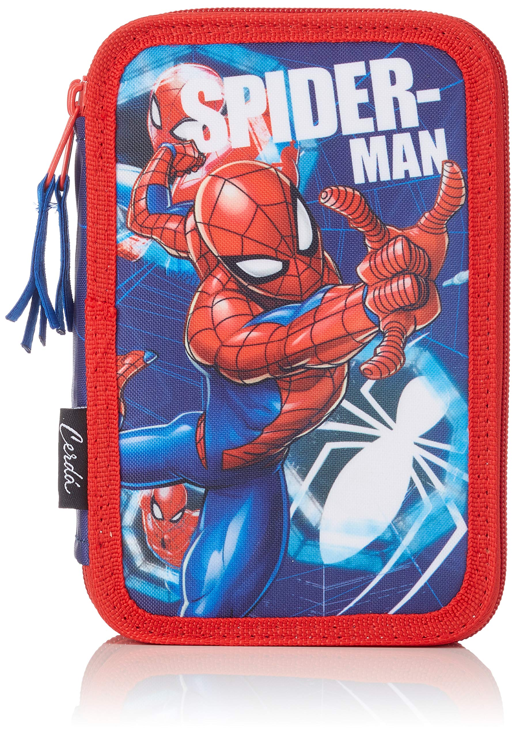Spider-Man-2700000237 Spiderman Plumier, Multicolor, 19 cm (Artesanía Cerdá CD-27-0237)