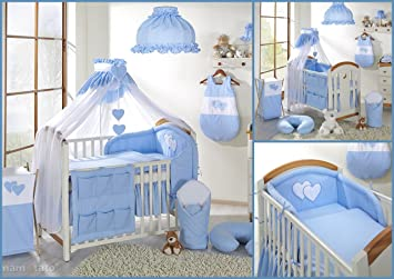 7 pcs Nursery Set/Bumper/Canopy/Covers/Canopy holder to fit BABY COT BED (140x70cm) BLUE Amazon.co.uk Baby  sc 1 st  Amazon UK & 7 pcs Nursery Set/Bumper/Canopy/Covers/Canopy holder to fit BABY ...