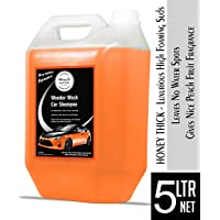 Wavex Wonder Wash Car Shampoo (5L) pH Neutral Formula For Safe, Spot Free Cleaning - Honey Thick, Luxurious Suds That Always Rinses Clean - Ultra Slick Formula That Wont Scratch or Leave Water Spots, Peach Fruit Fragrance