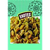 EXOTES Green Long Raisin/ Kishmish Pouch, 250g (Pack of 4)