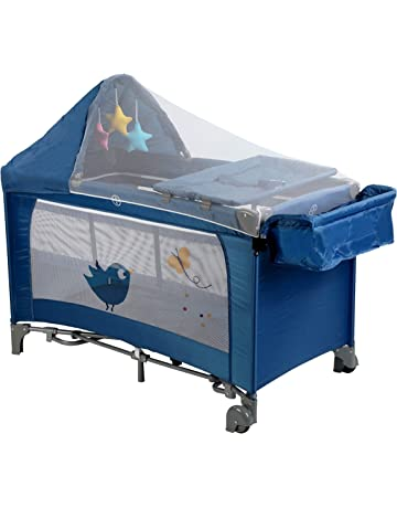 LuvLap Wonderjoy Baby Playpen Playard / Folding Baby Bed Cum Cot / Convertible Crib - (Blue)