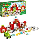 LEGO DUPLO Town Fattoria con Fienile, Trattore e Animali, Giocattoli per Bambini 2 Anni con Cavallo, Maialino e Mucca, 10952