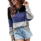 Odosalii Camiseta de manga larga para mujer, para invierno, de gran tamaño, suelta, túnica