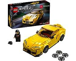 LEGO Speed Champions Toyota GR Supra, Macchina Giocattolo per Bambini di 7 Anni, Auto Sportiva da Corsa con Pilota, 76901