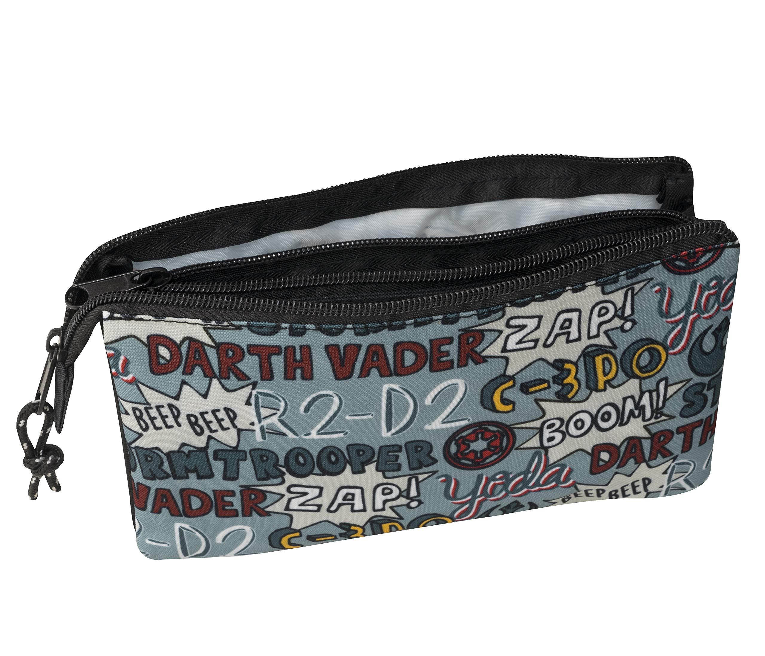 SAFTA 811941744 Estuche portatodo Triple Escolar Star Wars