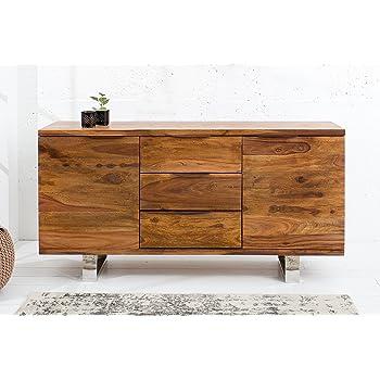 Dunord Design Sideboard Holz Massiv Anrichte Massivholz Kommode