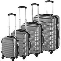 TecTake Set de 4 valises de Voyage de ABS avec Serrure à Combinaison intégrée | poignée télescopique | roulettes 360…