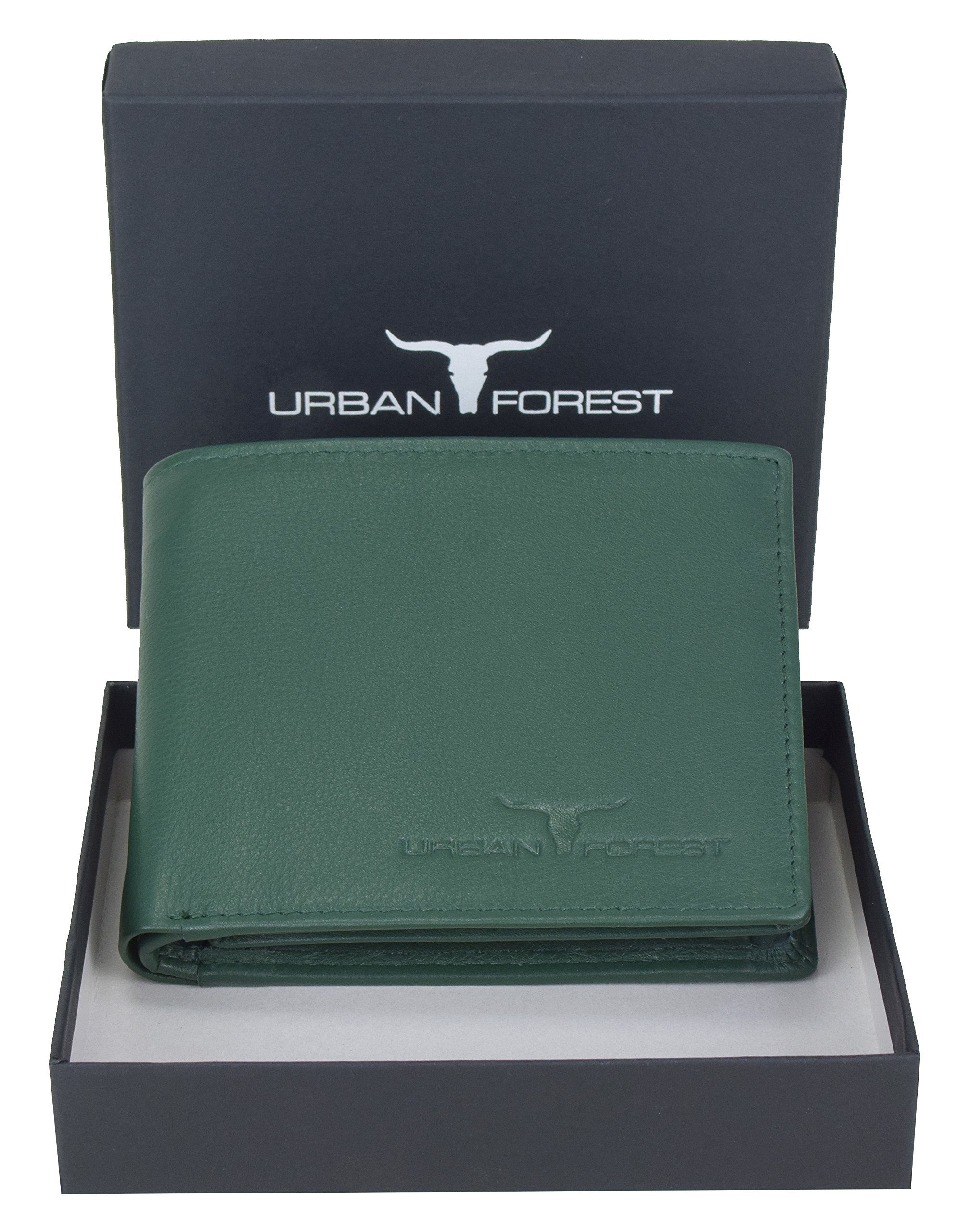 Urban Forest Kevin Green Leather Wallet for Men