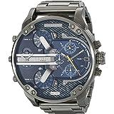 ساعة ديزل مستر دادي 2.0 للرجال بقاعدة ازرق وبسوار ستانلس ستيل - ياباني- انالوج - Dz7331