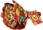 Chupa Chups Lecca Lecca Flower Bouquet, Lollipop Frutti Assortiti Gusto Limone, Arancia, Fragola, Mela, Anguria e...