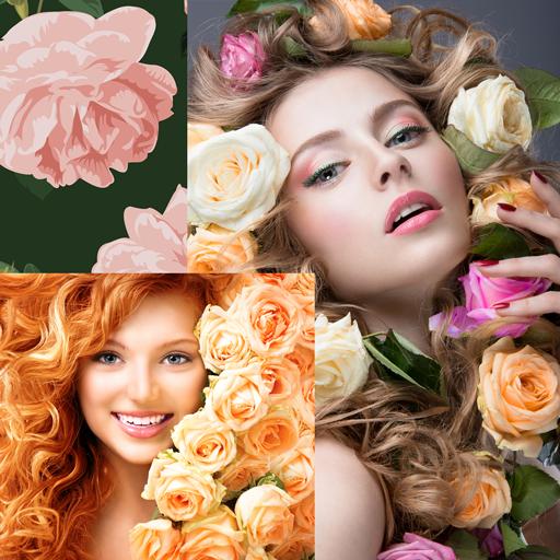 Rosen-Foto-Collage