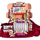 Caja regalo de bombones y chocolates - Kinder Bueno, Kinder Delice, Lindt,Milkibar, Kinder Cards, Lacasitos, Happy Hippo. Reg