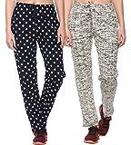 SHAUN Women's Cotton Track Pants (Pack of 2)