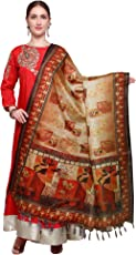Applecreation Women's Khadi Silk Dupatta (Free Size)
