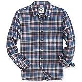 Dubinik®, camicia da uomo a quadretti, in flanella, vestibilità normale, a maniche lunghe, per il tempo libero