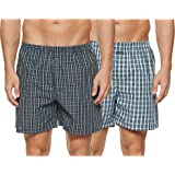 Jockey Men's Cotton Boxers (Pack of 2)(1222-0210-ASSTD Boxer Shorts S) (Color & Prints May Vary)