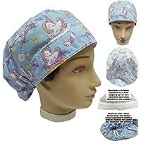 Cappello da infermiera UNICORNIE per donna Capelli Lunghi, Sala operatoria Dentista, Veterinaria, Cucina, Asciugamano…