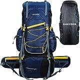 TRAWOC 75 Liter Travel Backpack for Hiking Trekking Bag Camping Rucksack BHK002 1 Year Warranty (Blue)