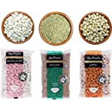 Greek Legumes | Traditional Pack with Big White Butter Beans 500g + Lentils 500g + Chickpeas 500g | Total 1.5kg