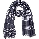 GIULIA BIONDI 100% Made in Italy Sciarpa Cotone Righe Stola Scialle Foulard Leggera Morbida Elegante per Donna e Uomo