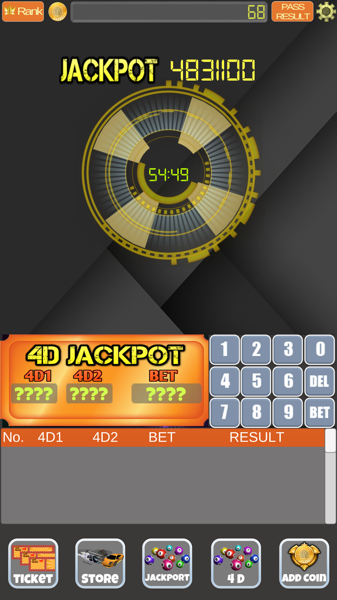 4D Live Lottery Game: Amazon co uk: Appstore for Android