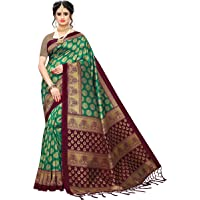 Anni Designer Women's Rama Color Banarasi Silk Saree