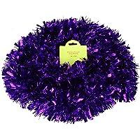 Christmas Concepts® 3m / 9.8ft Tinsel de Noël Chunky/Fine - Décoration de Noël - Tinsel de Haute qualité (Violet)