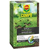 COMPO SEMI per Prato Veloce, Miscela Speciale, Seme Ricoperto, Per rigenerare Tappeti Erbosi, 1 kg
