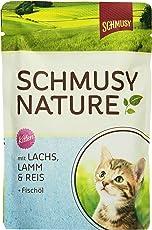 Schmusy Katzenfutter Natures Menü für Kitten mit Lachs 100 g, 24er Pack (24 x 100 g)