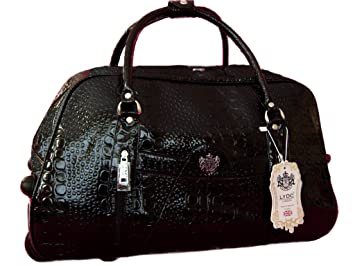 Sugar Sweet Bags LYDC Mock Croc Ladies Designer Travel Bag Holdall ...